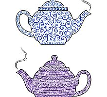Patterned Teapots by Mariya Olshevska
