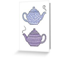 Patterned Teapots Greeting Card