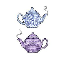 Patterned Teapots Photographic Print