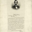 Handwritten Letter from Abraham Lincoln by Vintage Works