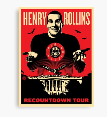henry rollins tour date time 2016 nh1 Canvas Print