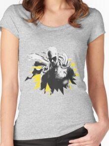 One Punch Man Saitama Women's Fitted Scoop T-Shirt