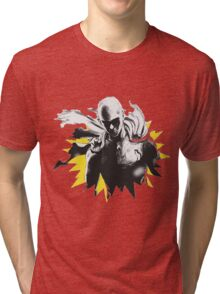 One Punch Man Saitama Tri-blend T-Shirt