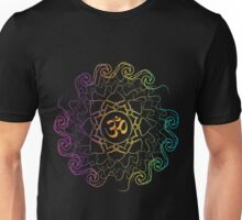 Colored yoga energy mandala art Unisex T-Shirt