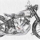 The Panther a Classic 1950s Motorcycle by JohnKarmouche