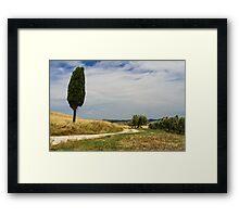 A Tuscan Scene, Pienza, Siena, Tuscany, Italy Framed Print
