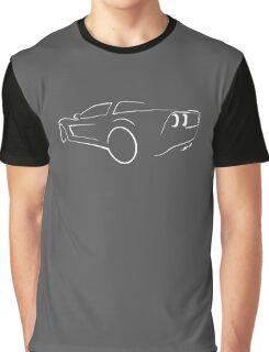 Chevrolet Corvette graphic (White) Graphic T-Shirt