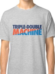 Triple-Double Machine (Navy-Orange/Light Blue) Classic T-Shirt