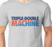 Triple-Double Machine (Navy-Orange/Light Blue) Unisex T-Shirt
