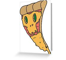 Bad pizza Greeting Card