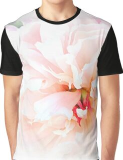 Pink Peony - Macro Floral Digital Painting Graphic T-Shirt