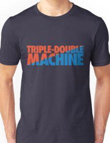 Triple-Double Machine (Orange/Light Blue) Unisex T-Shirt