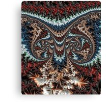 Feathery Owl Fractal Abstract Masculine Art Canvas Print