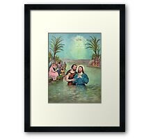 Baptism of Jesus Christ Framed Print