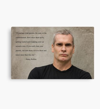henry rollins tour date time 2016 nh5 Canvas Print