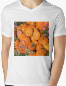 PUMPKINS AND CARRIAGE CANCER AWARENESS PILLOW AND OR TOTE BAG Mens V-Neck T-Shirt