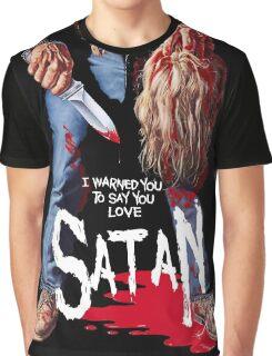 Say You Love Satan 80s Horror Podcast - Maniac Graphic T-Shirt