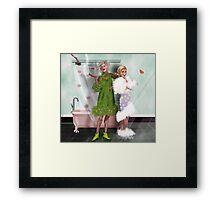 Final Curtain: Shower Curtain Framed Print
