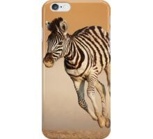 Baby zebra running iPhone Case/Skin