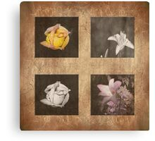 Rose and Lily Composite Canvas Print