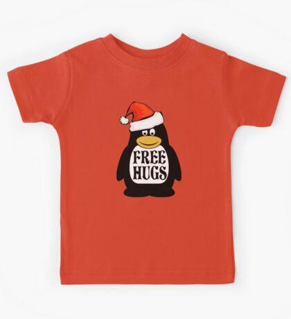 Hugs the Christmas Penguin Kids Tee