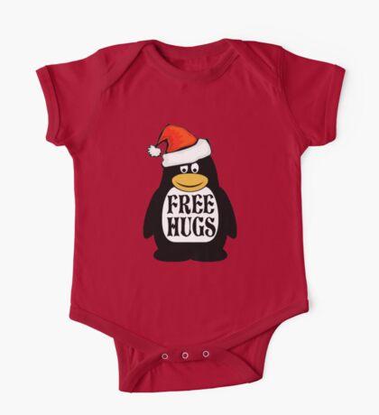 Hugs the Christmas Penguin One Piece - Short Sleeve