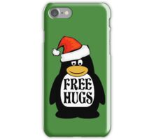 Hugs the Christmas Penguin iPhone Case/Skin