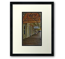 Fat's Catering in Old Sacramento Framed Print