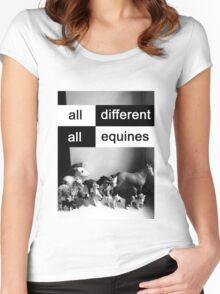 All different, all equines Women's Fitted Scoop T-Shirt