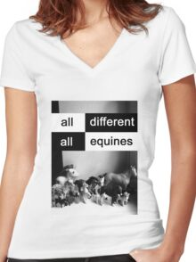 All different, all equines Women's Fitted V-Neck T-Shirt