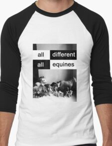 All different, all equines Men's Baseball ¾ T-Shirt