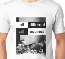 All different, all equines Unisex T-Shirt