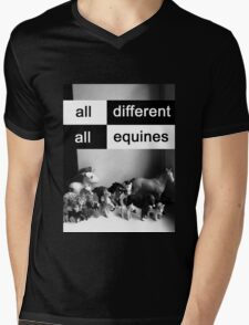 All different, all equines Mens V-Neck T-Shirt