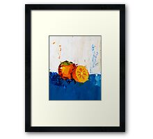 Divine Persimmon Framed Print