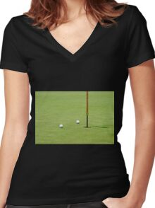 Golf Pin Women's Fitted V-Neck T-Shirt