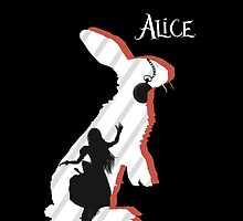 Alice and The White Rabbit. by KaitlynWhilden