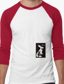 Alice and The White Rabbit. Men's Baseball ¾ T-Shirt