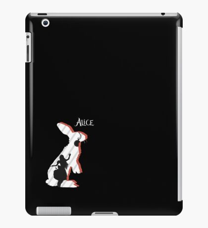 Alice and The White Rabbit. iPad Case/Skin