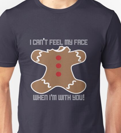 Can't Feel My Face - Christmas Unisex T-Shirt