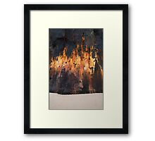 Wall of Flame Framed Print