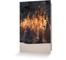 Wall of Flame Greeting Card