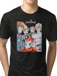 Silver Hawks 80s Cartoons Retro Tri-blend T-Shirt