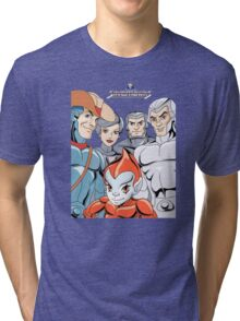 Silver Hawks 80s Cartoons Retro Tri-blend T-Shirt