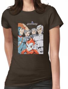 Silver Hawks 80s Cartoons Retro Womens Fitted T-Shirt