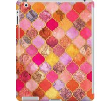 Hot Pink, Gold, Tangerine & Taupe Decorative Moroccan Tile Pattern iPad Case/Skin