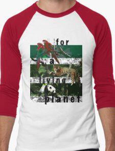 For A Living Planet Men's Baseball ¾ T-Shirt