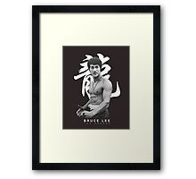 Bruce Lee Graphic T shirt The Dragon Framed Print