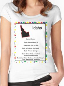 Idaho Information Educational Women's Fitted Scoop T-Shirt