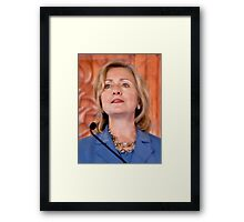 The Honorable Hillary Rodham Clinton Framed Print