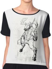 Lumber Moose Chiffon Top